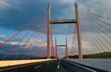 镇丁工业大道上跨都香高速公路桥工程
